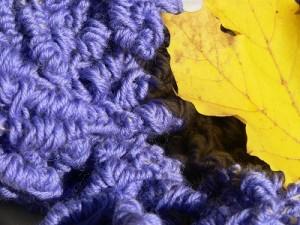 tunisian crochetting