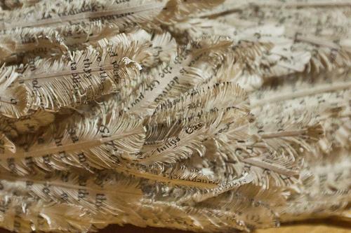 paper sculpture, birds wing