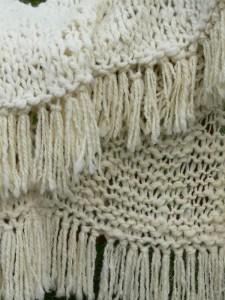 fringe, chunky yarn, mega, art yarn spinning