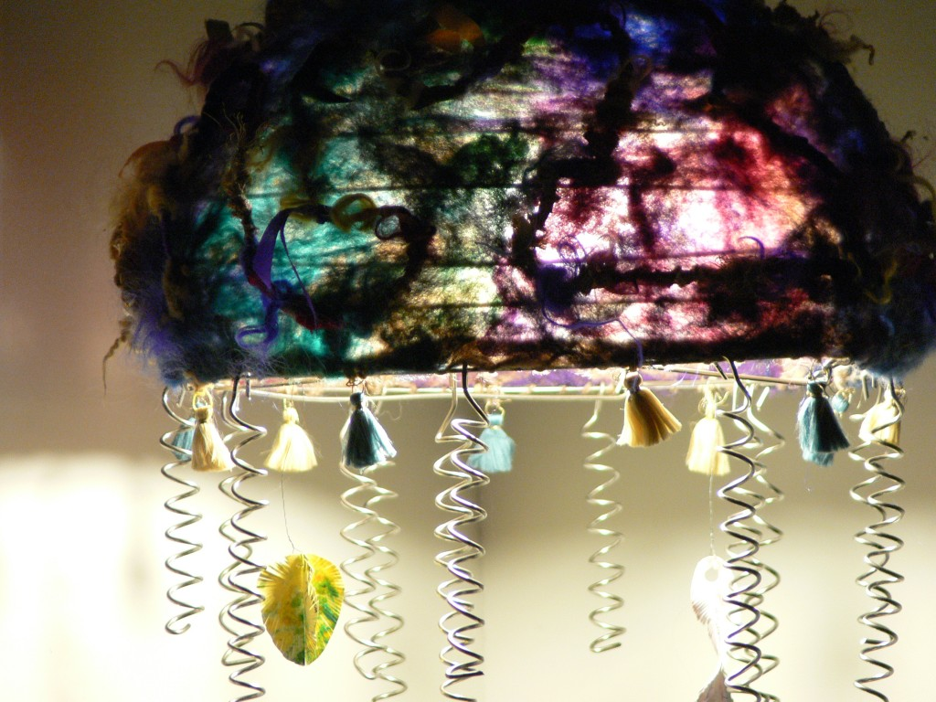 felted lampshade