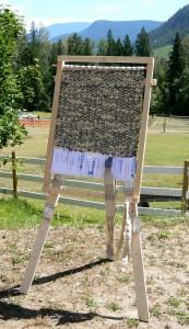 rag rug making, simple loom plans