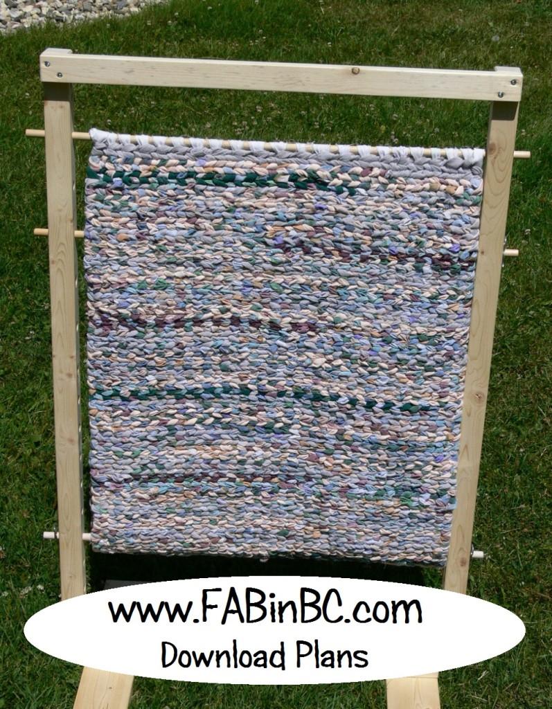 rag rug weaving loom, download plans
